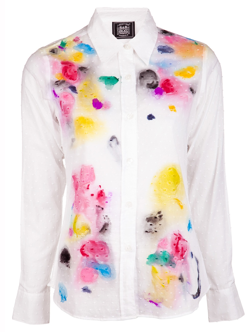 Hand Painted Shirt in White