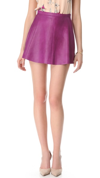 Love leather Jawbreaker A Line Mini Skirt in Purple | Lyst