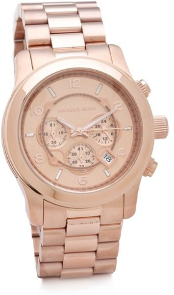Michael Kors Oversized Watch Rose Gold in Pink (rose)