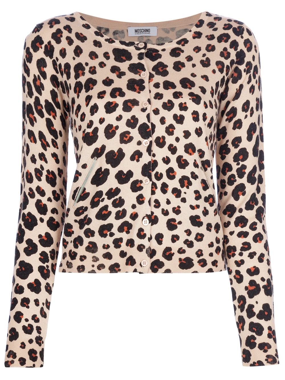 Boutique moschino Leopard Print Cardigan | Lyst