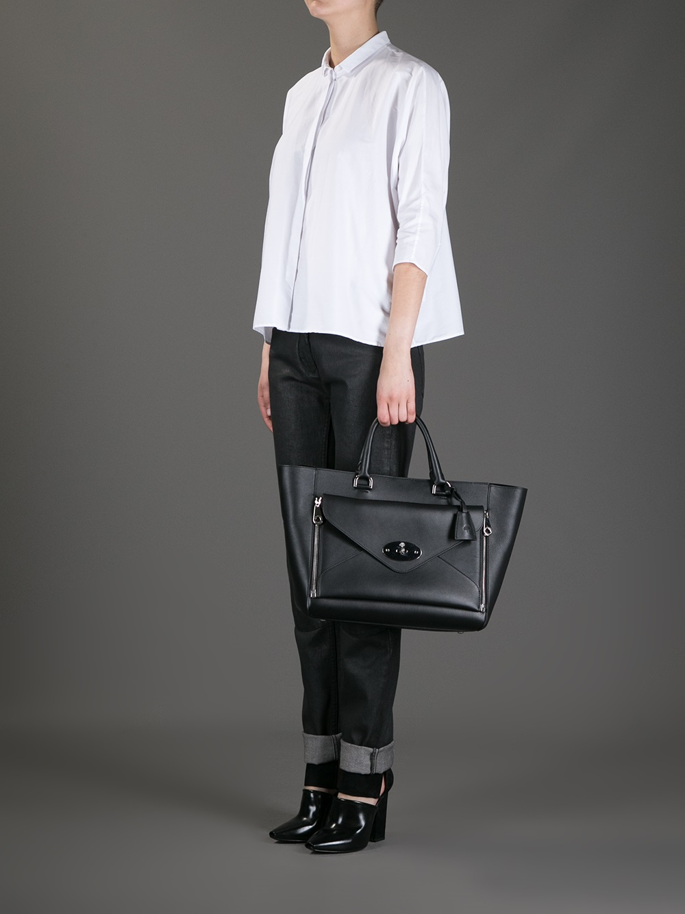 c1d7ccbcd1 Lyst - Mulberry Willow Tote Bag in Black