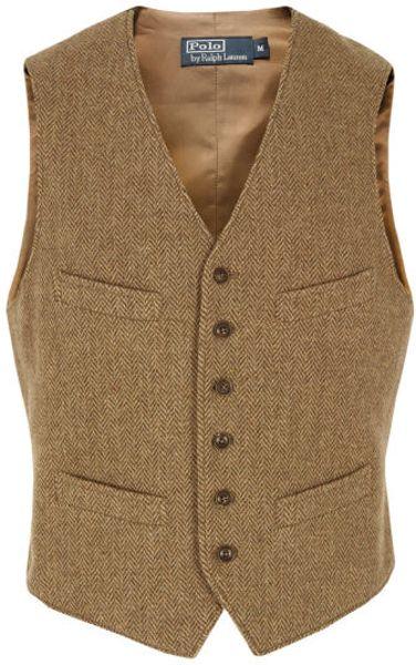 Lyst - Polo Ralph Lauren Tweed Vest in Brown for Men