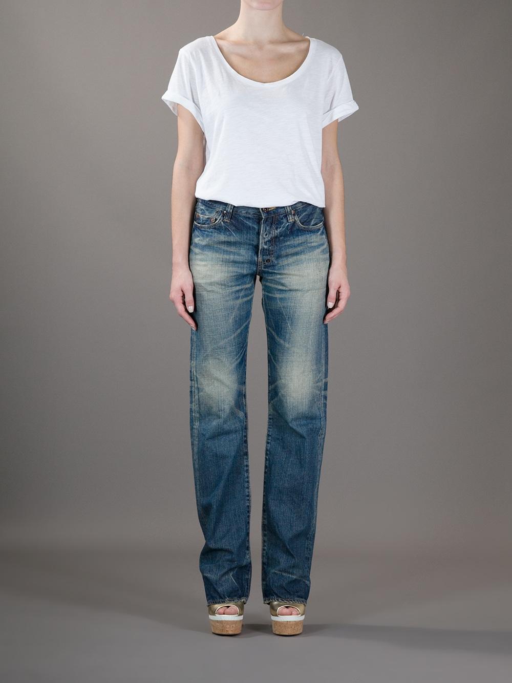 Prps Boyfriend Straight Leg Jeans in Blue | Lyst