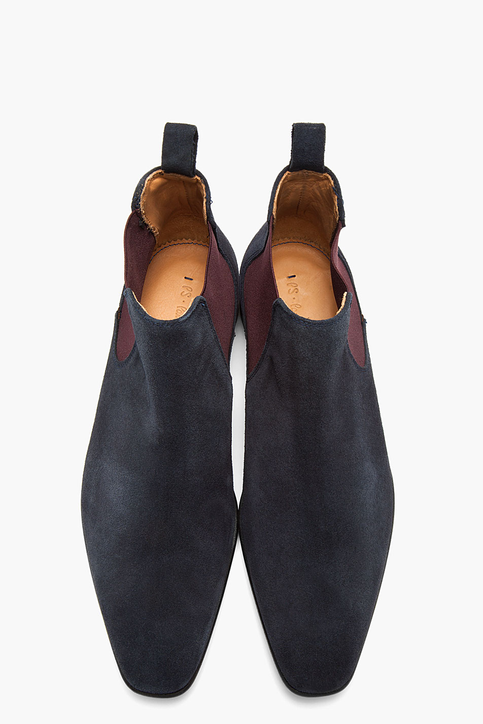 Ps by paul smith Navy and Purple Falconer Oceano Suede Boots for ...