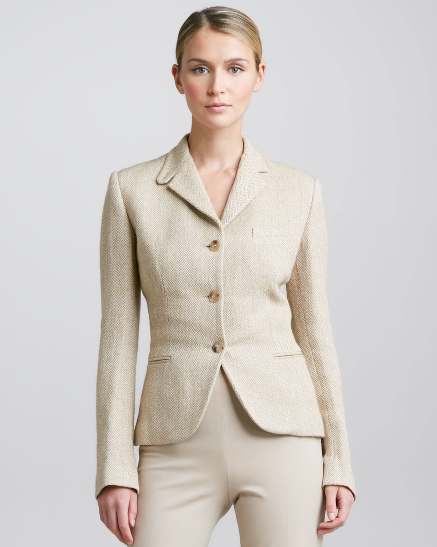 Lyst Ralph Lauren Black Label Silken Linen Herringbone Jacket