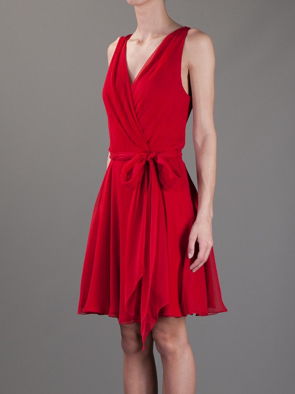 Sleeveless Wrap Dresses