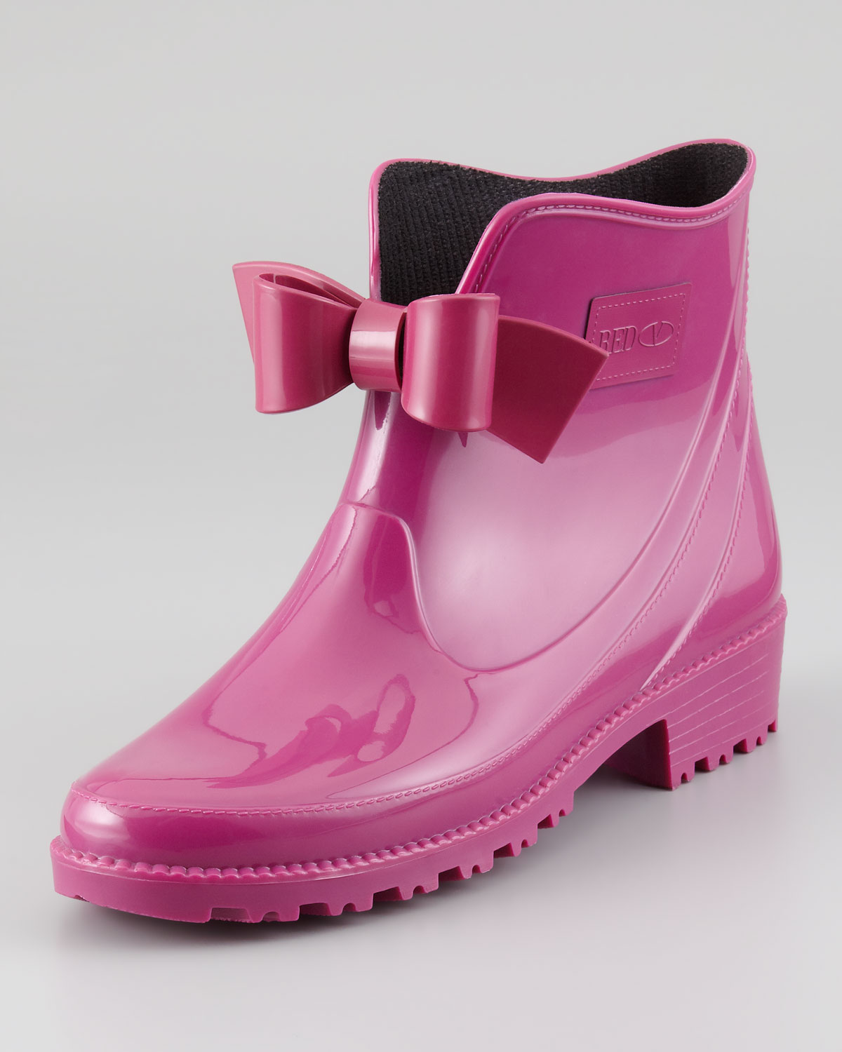 Red valentino Bowfront Short Rain Boot Raspberry in Pink | Lyst