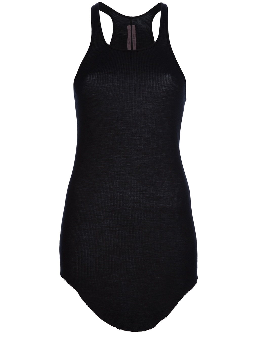46657f9ad9bcd9 Lyst - Rick Owens Long Tank Top in Black