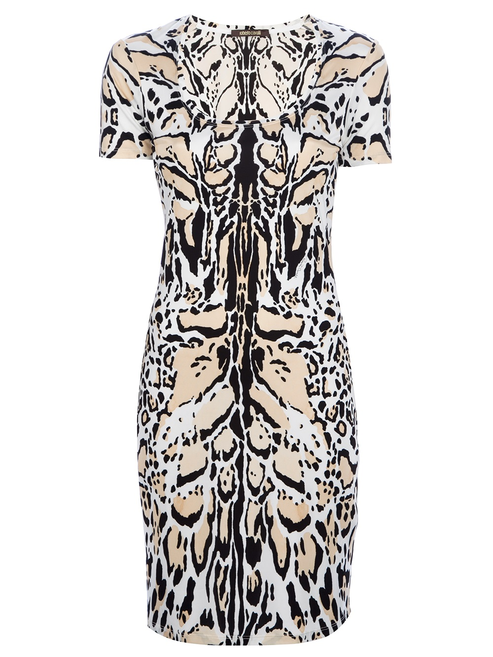486f7b5352 Lyst - Roberto Cavalli Animal Print Dress