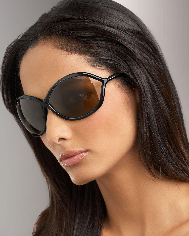 lyst tom ford whitney sunglasses black in black. Black Bedroom Furniture Sets. Home Design Ideas