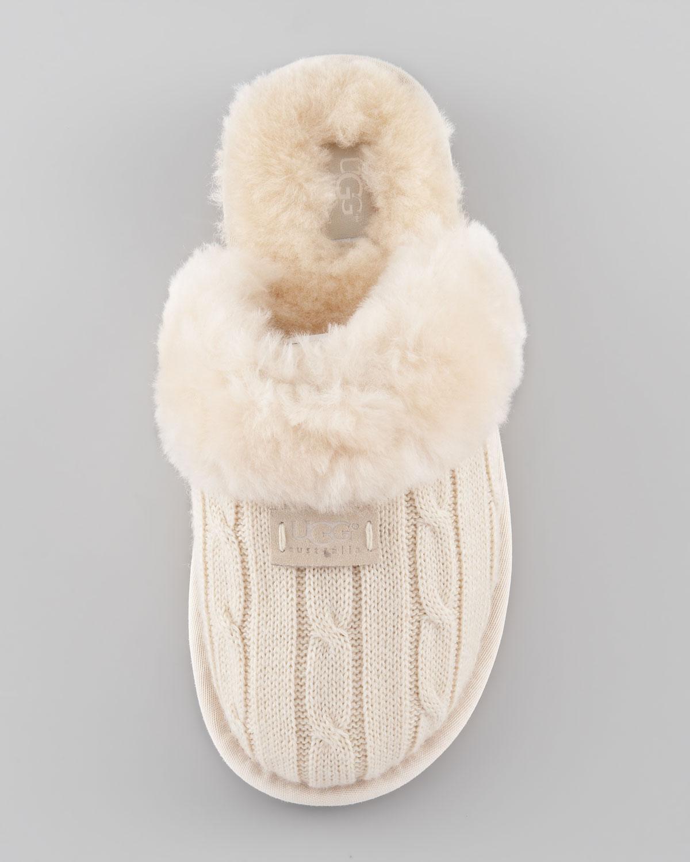 Lyst Ugg Cozy Knit Shearling Slipper Mule In Gray