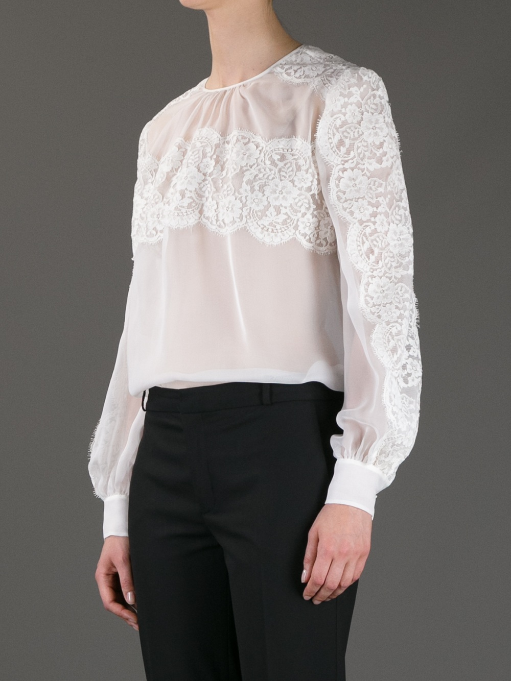 Buy Cheap Pay With Visa Valentino Lace Button-Up Top New Arrival Free Shipping Store Ebay Sale Online f2LQXhwKH