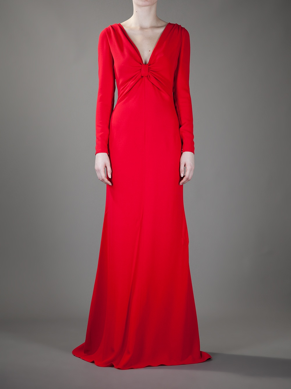 Lyst - Valentino Evening Gown in Red