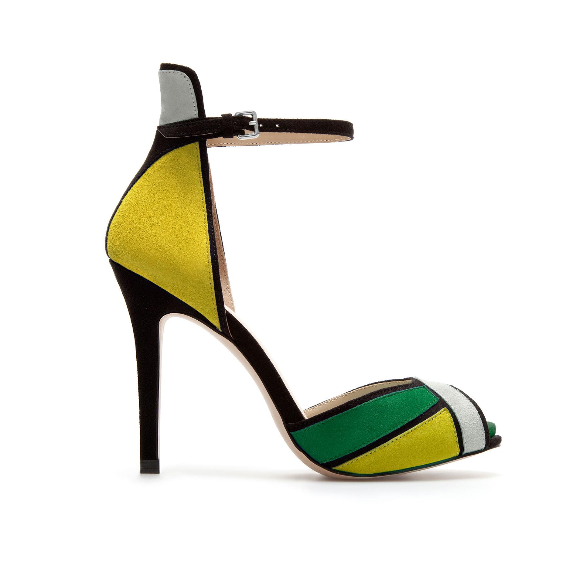 Green Ankle Strap Heels | Tsaa Heel