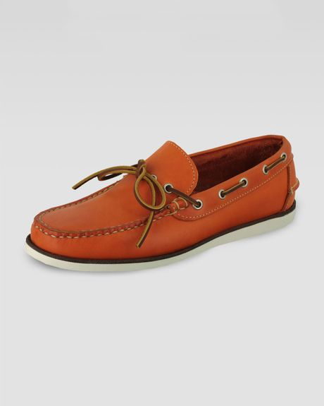 Eastland Yarmouth Boat Shoe Orange in Orange (8