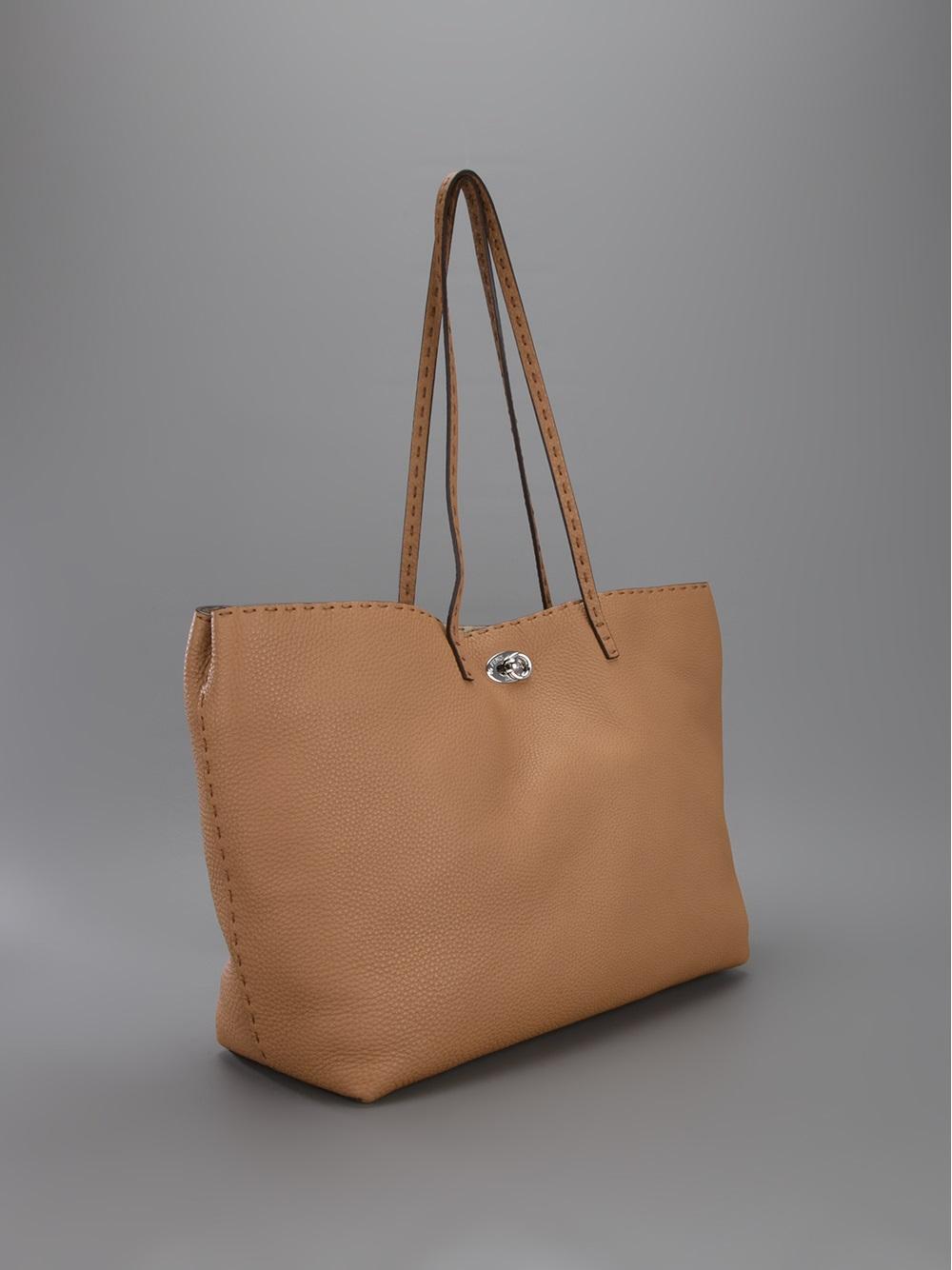 362ed377560e 33925 e1db1  sweden lyst fendi selleria shopper tote in brown 8526a b7cad