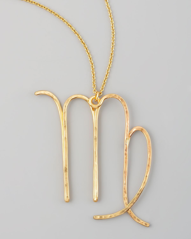 gaugenyc virgo necklace in metallic lyst