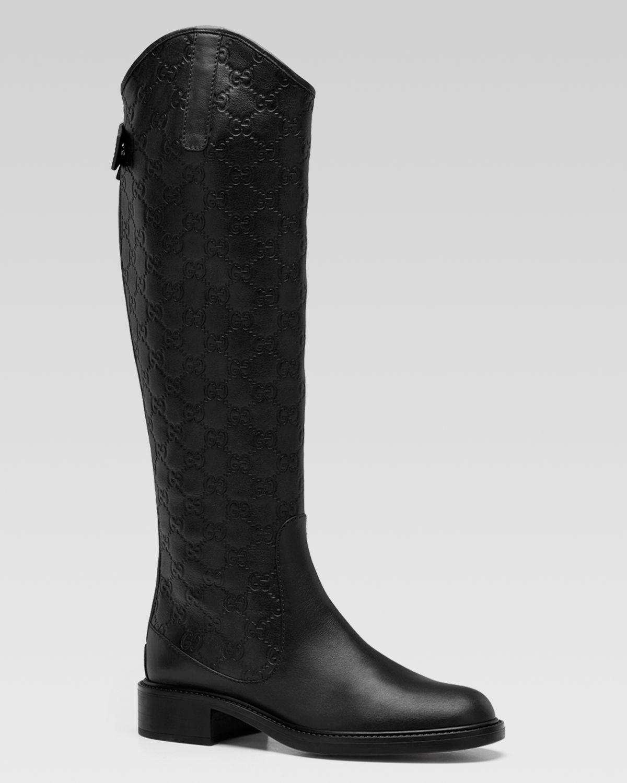 gucci maud flat boot in black lyst