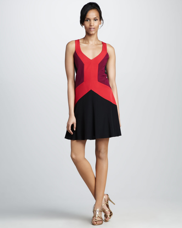 Jay godfrey Ullman Colorblock Dress in Red