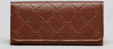 longchamp wallet lm cuir in brown cognac lyst. Black Bedroom Furniture Sets. Home Design Ideas