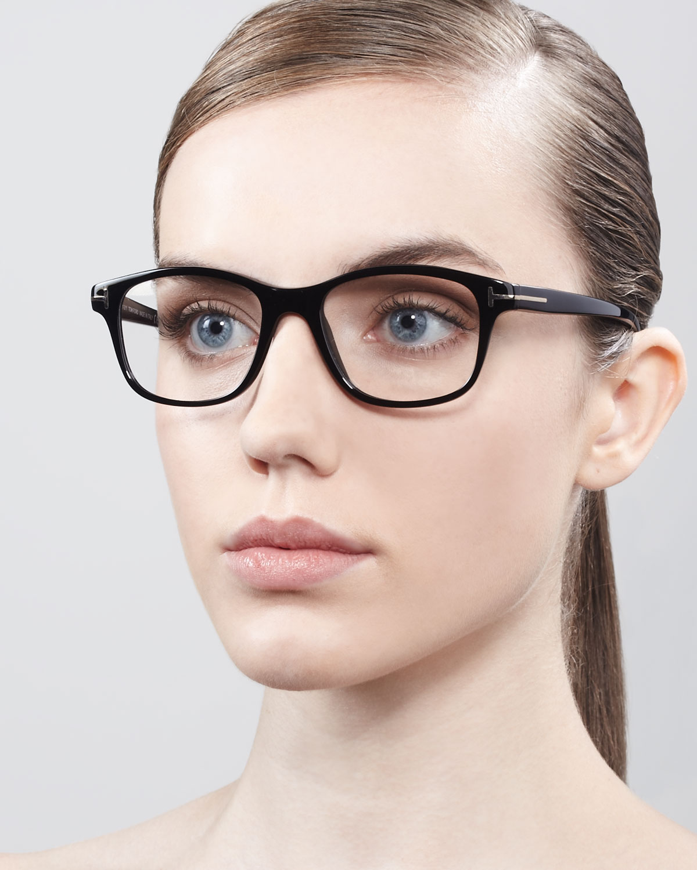 cb189b0f14c Tom Ford Womens Unisex Semirounded Square Fashion Glasses Shiny ...