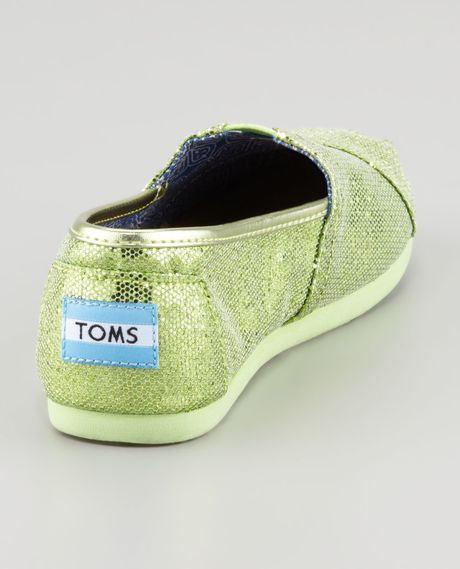 Toms Glitter Shoes in Green (MINT GREEN) - Lyst