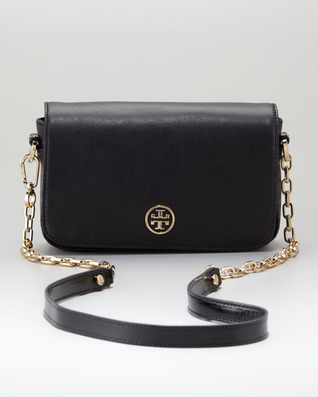 cf36c5ecd3c Lyst - Tory Burch Robinson Chainstrap Mini Bag in Black