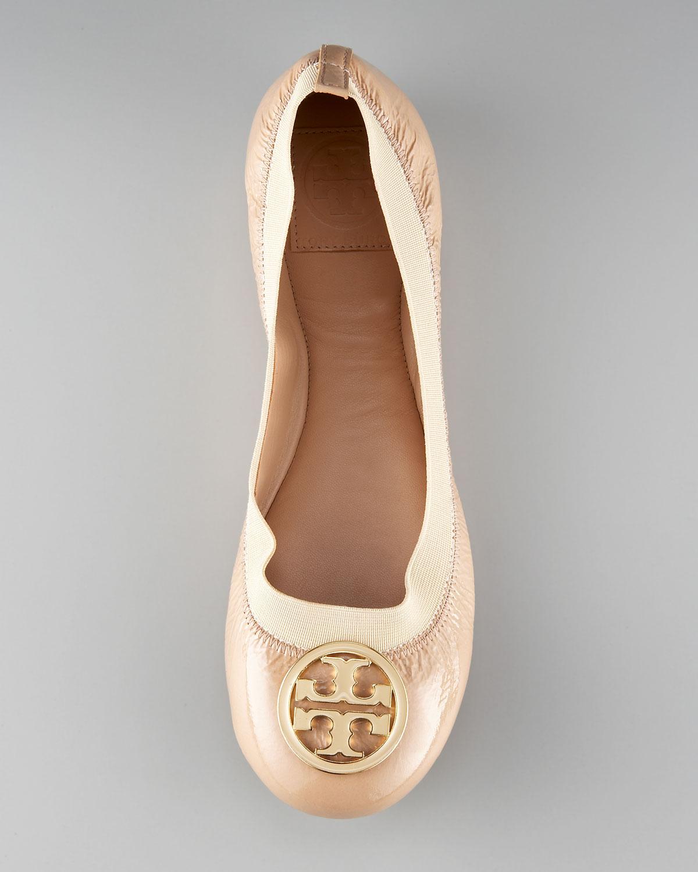 095268c8fbfa Lyst - Tory Burch Caroline Patent-Leather Ballet Flats in Pink