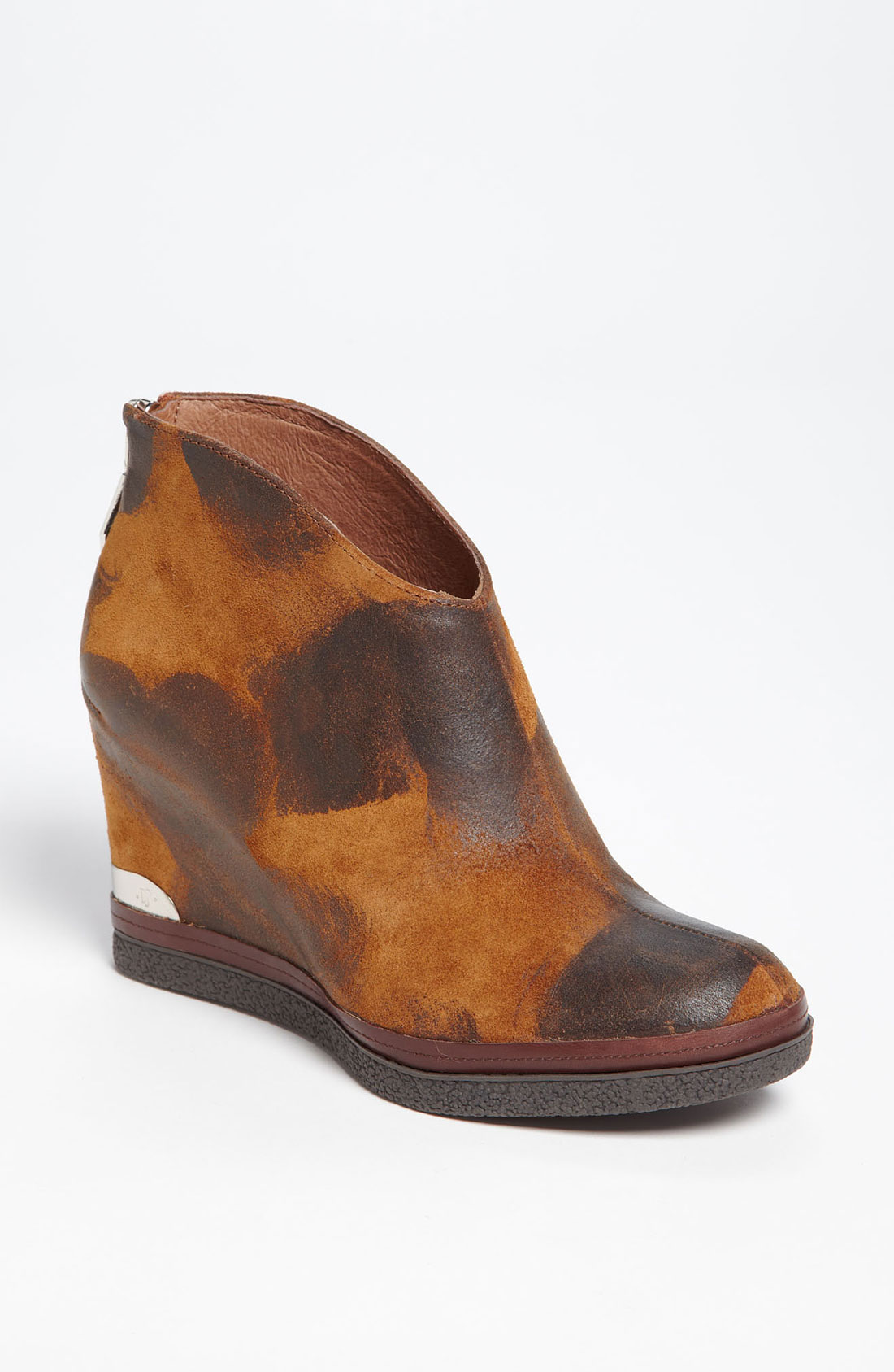 donald j pliner dafne wedge boot in brown saddle lyst