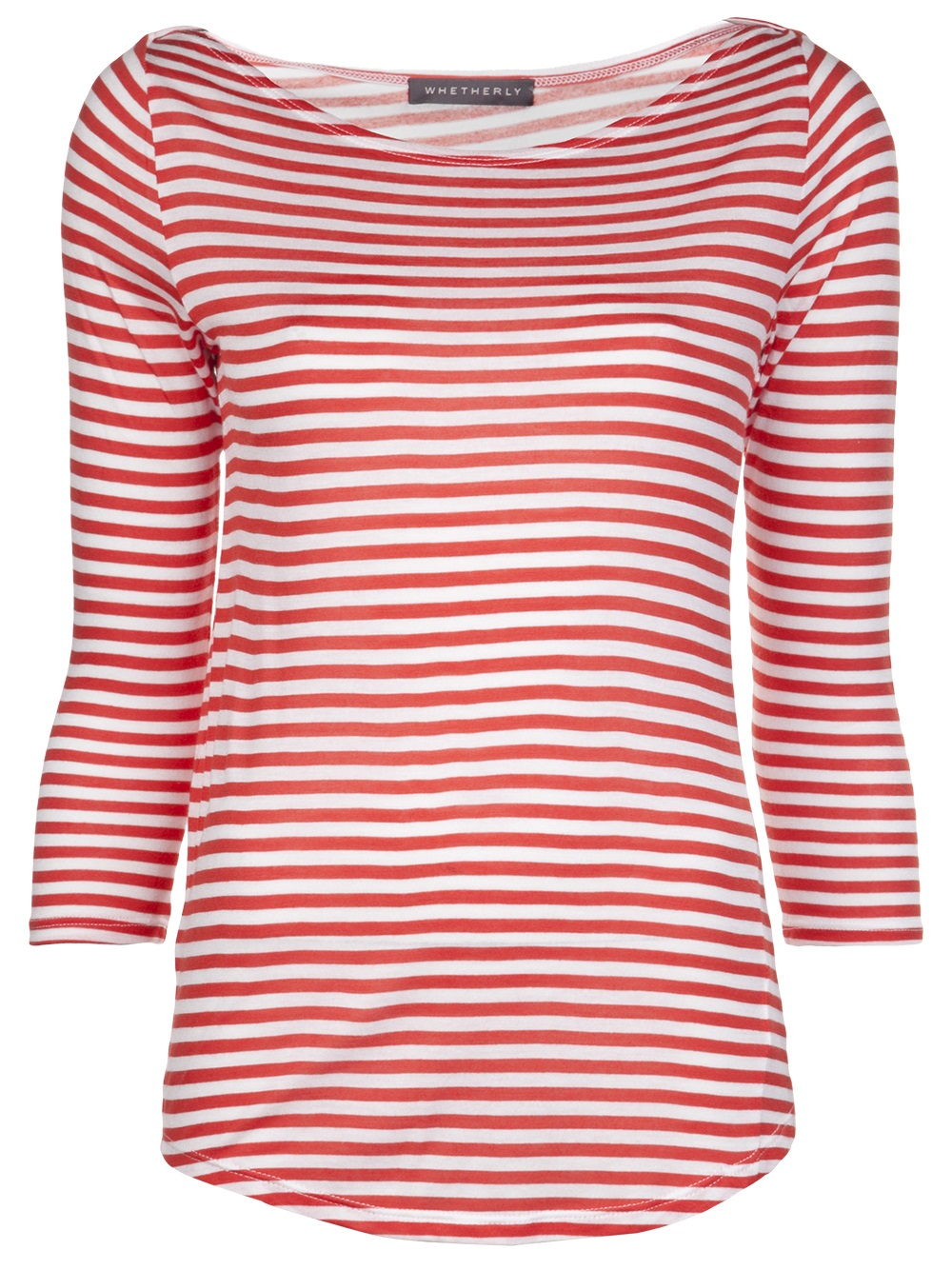 Whetherly Griffin Striped Tee In Red Yellow Orange Lyst