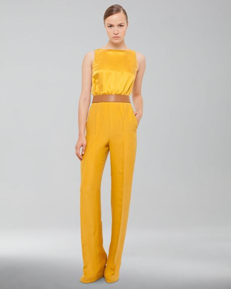 Perfect Yellow Jumpsuit Sleeveless Jumpsuits Women Wrap Top