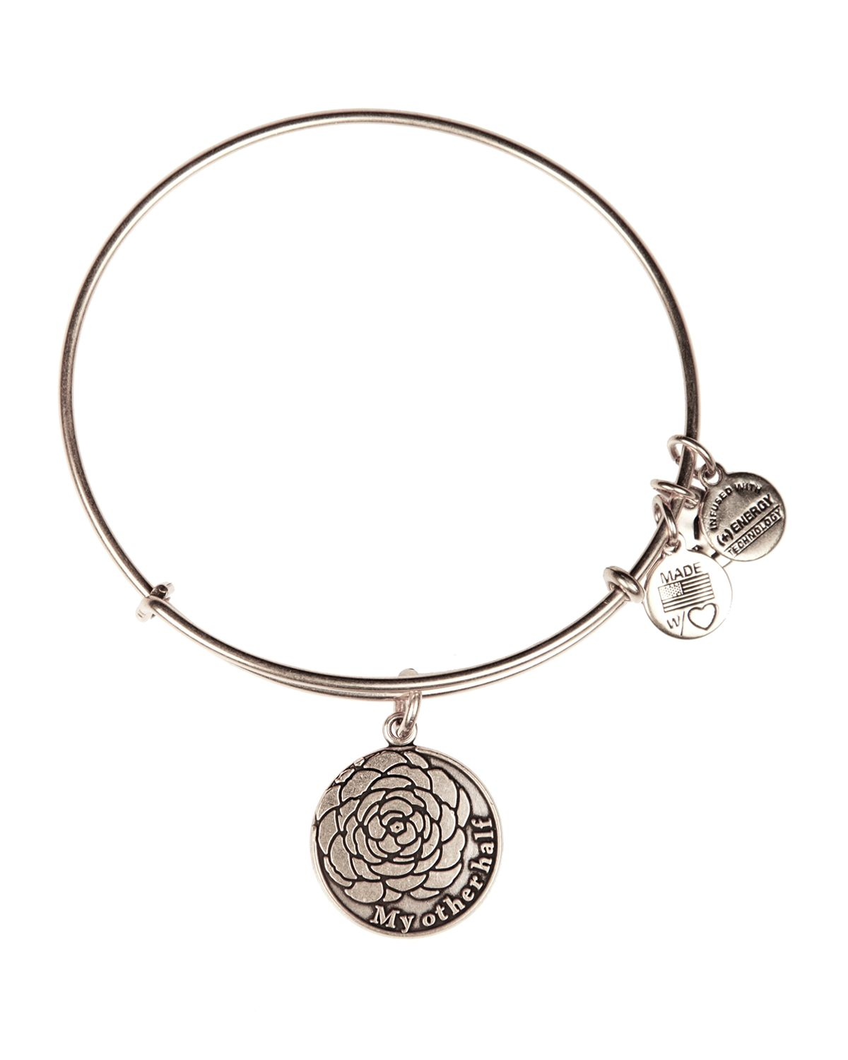 Alex And Ani Charm Bracelets: Alex And Ani My Other Half Expandable Wire Bangle