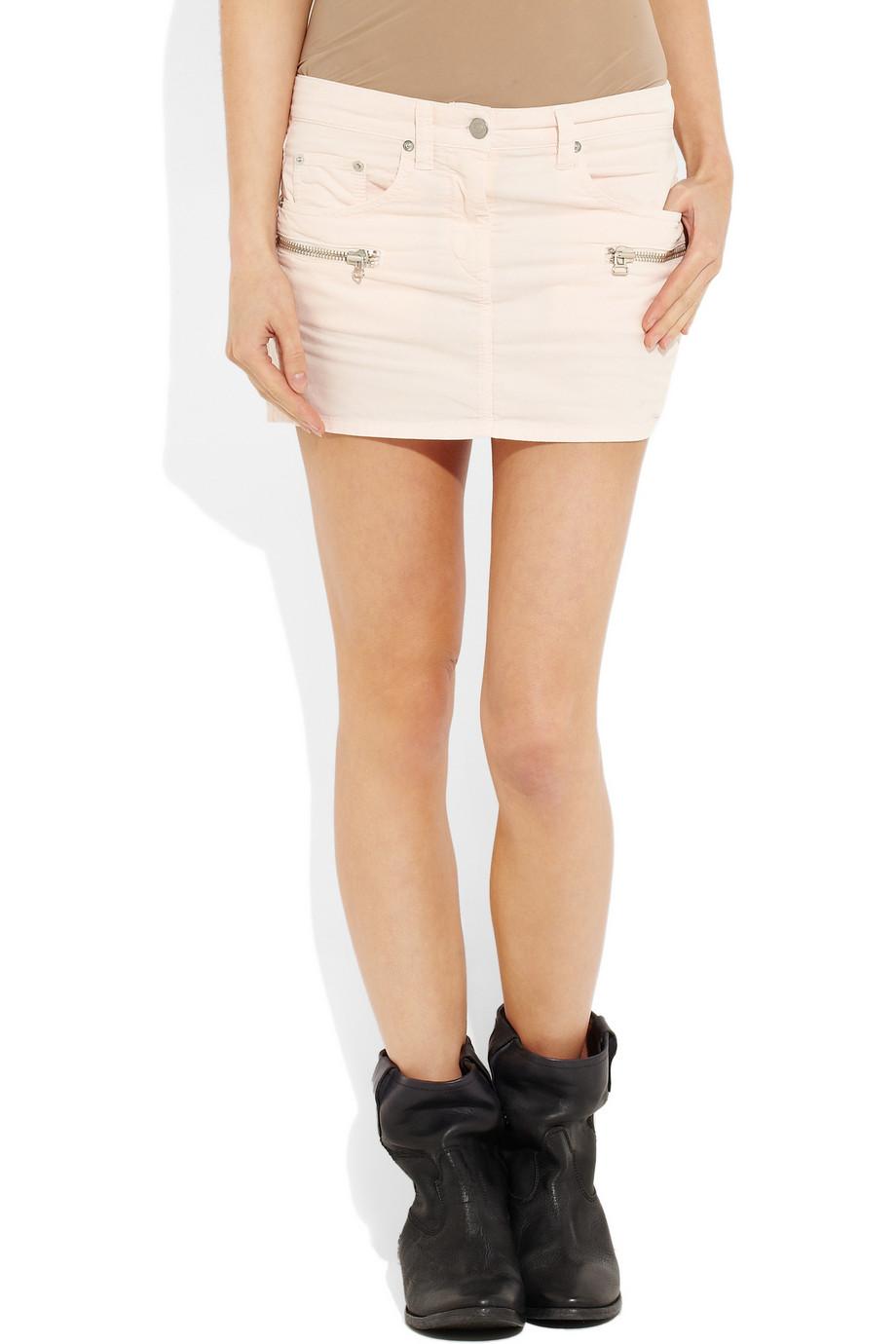 Étoile isabel marant Issop Corduroy Mini Skirt in Pink   Lyst