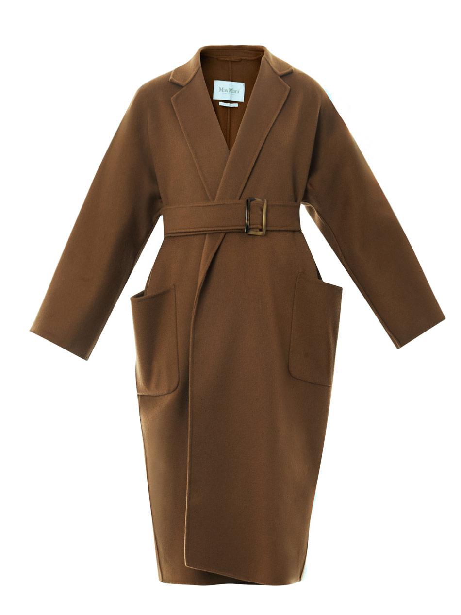 Lyst Max Mara Saio Coat In Brown