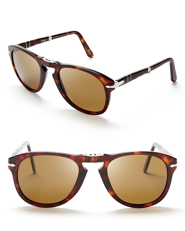 abda7b27a6fcc Persol Suprema Folding Polarized Keyhole Sunglasses in Brown for Men ...
