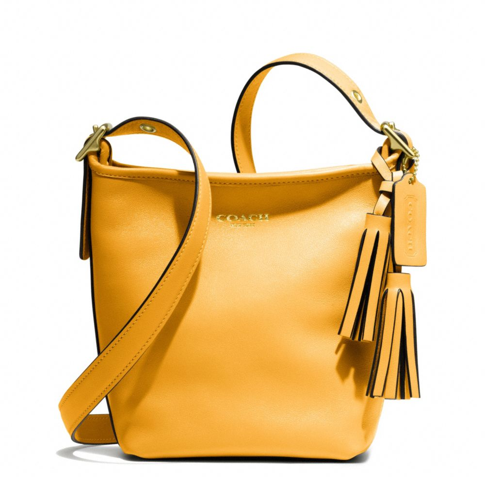 Lyst Coach Legacy Leather Minnie Duffle In Yellow Low Priced 2183c 2d0f6