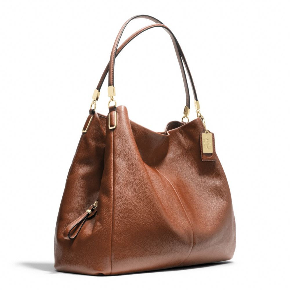 c7c875261044 ... promo code for lyst coach madison leather phoebe shoulder bag in brown  e2211 4a6df