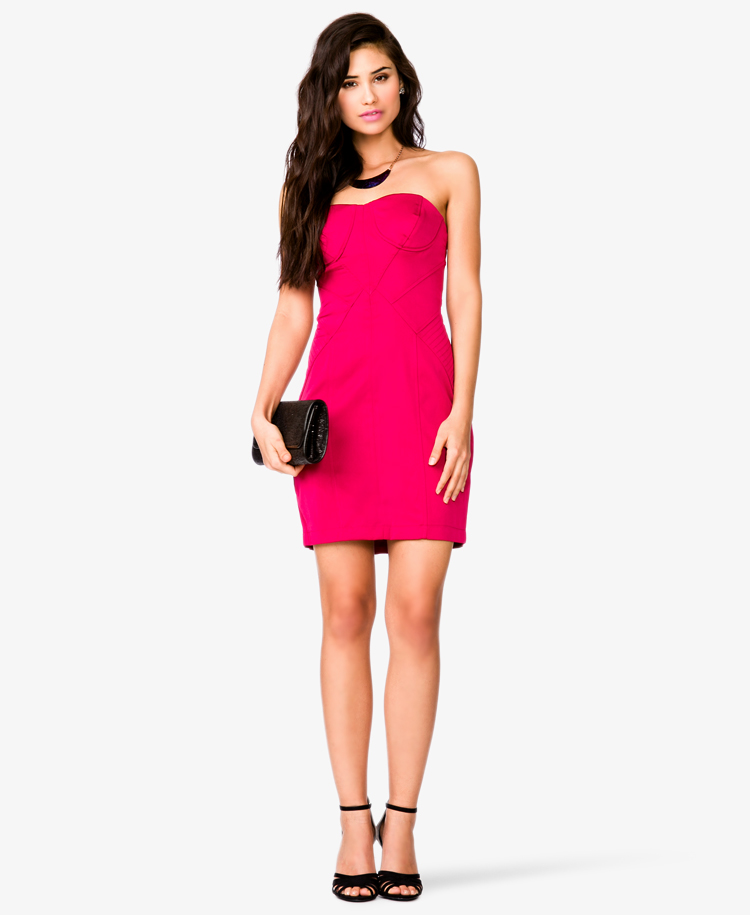 Lyst - Forever 21 Strapless Bodycon Dress in Pink b305f04d6