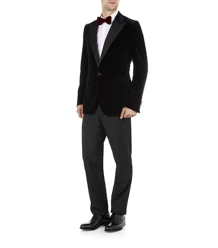 Lyst Lanvin Velvet Tuxedo Jacket In Black For Men