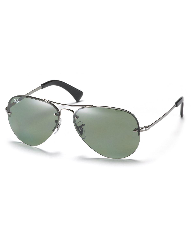 e03db81b2f1f Large Rimless Sunglasses Polarized