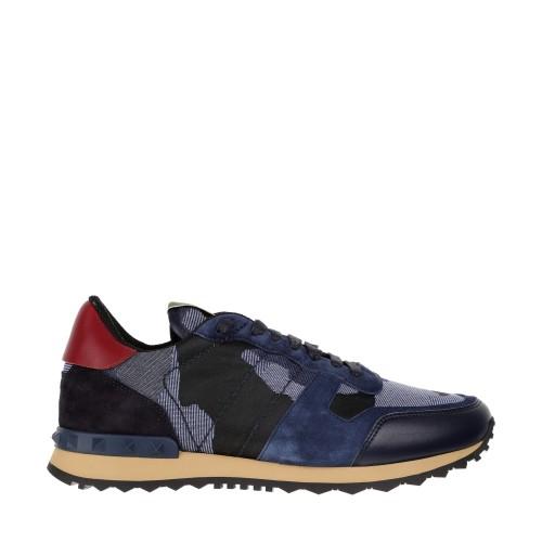 Blue Camo Low Top Valentino Shoes