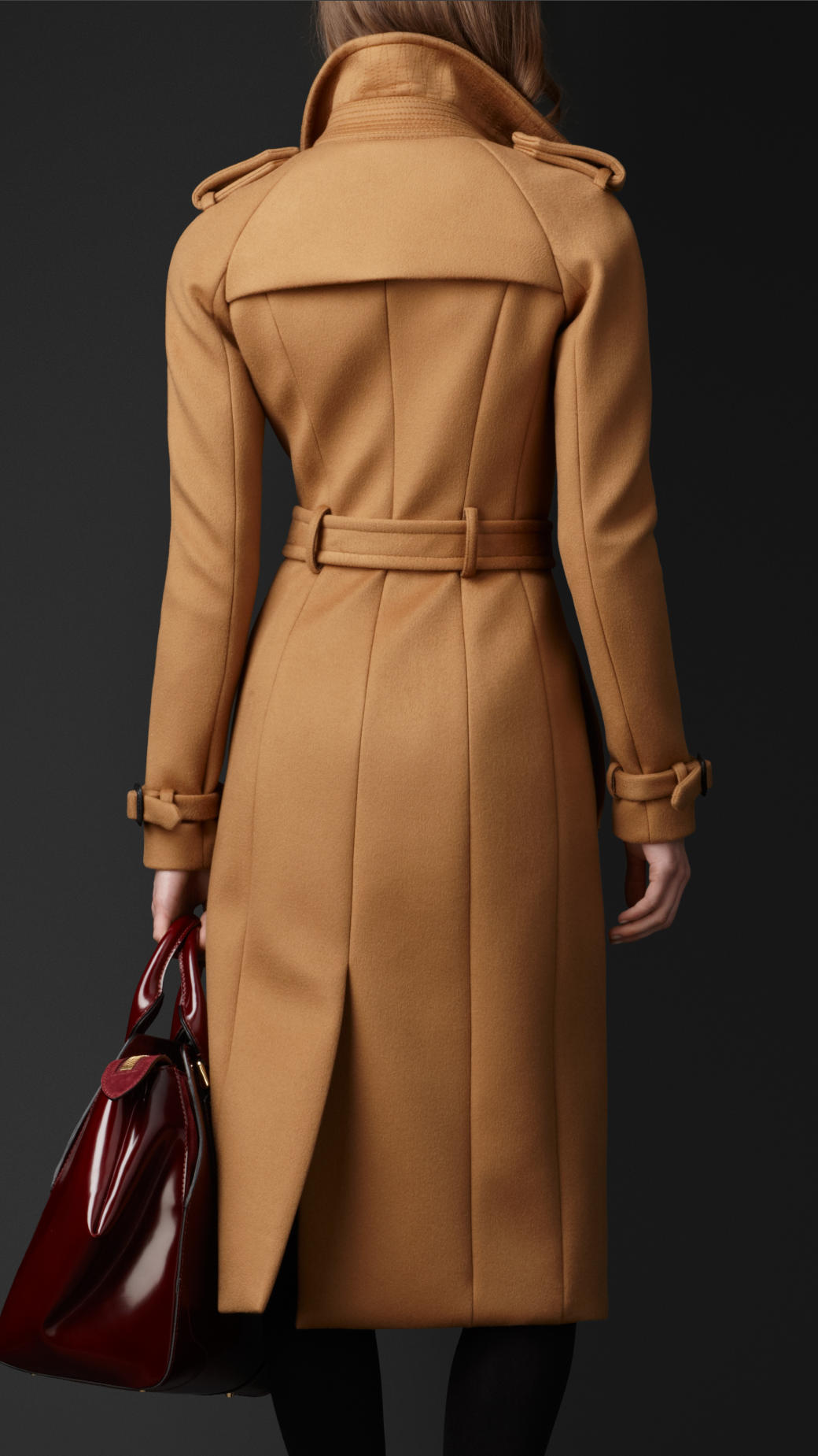 Lyst Burberry Bonded Cashmere Trench Coat In Natural