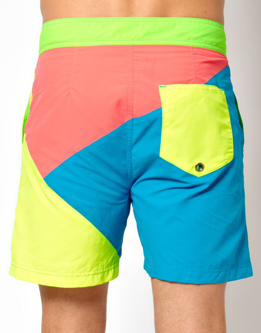 d778150962 Humor Swift Neon Swim Shorts in Blue for Men - Lyst