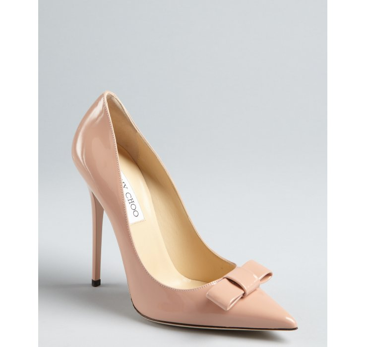 8d30365f3db ... where to buy lyst jimmy choo blush patent leather maya pointed toe pumps  in natural 9253b