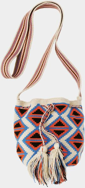 Toast Wayuu Small Bag in Red (stone/bluebell/burnt orange)