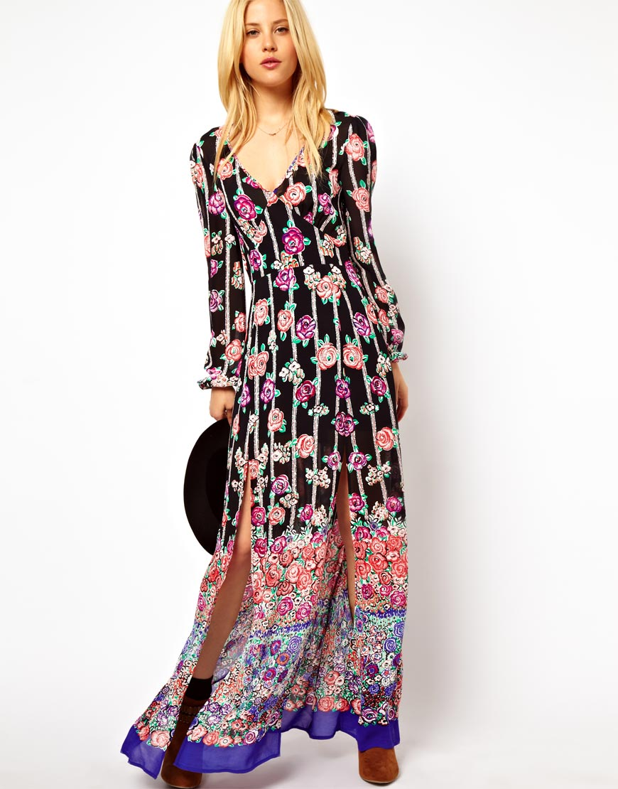 Flower power maxi dress 70s style