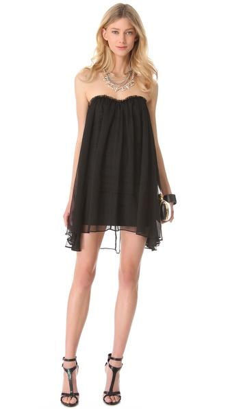Blaque label Strapless Mini Dress in Black | Lyst