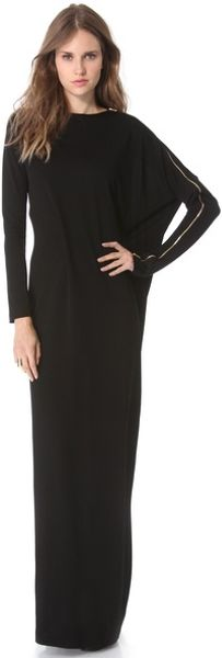 Jean Paul Gaultier Long Sleeve Jersey Dress in Black