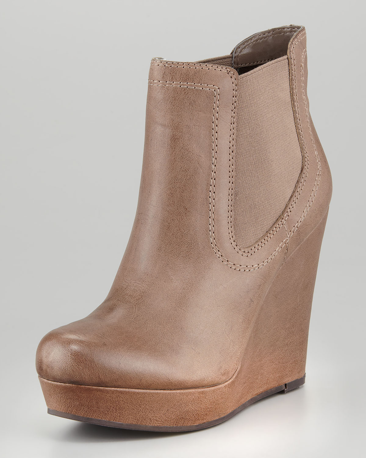 Seychelles Prime Suspect Leather Coveredwedge Ankle Boot Brown in ...