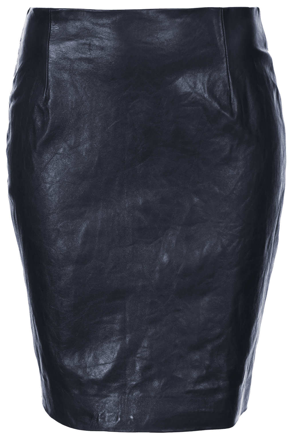 topshop leather pencil skirt by boutique in blue lyst